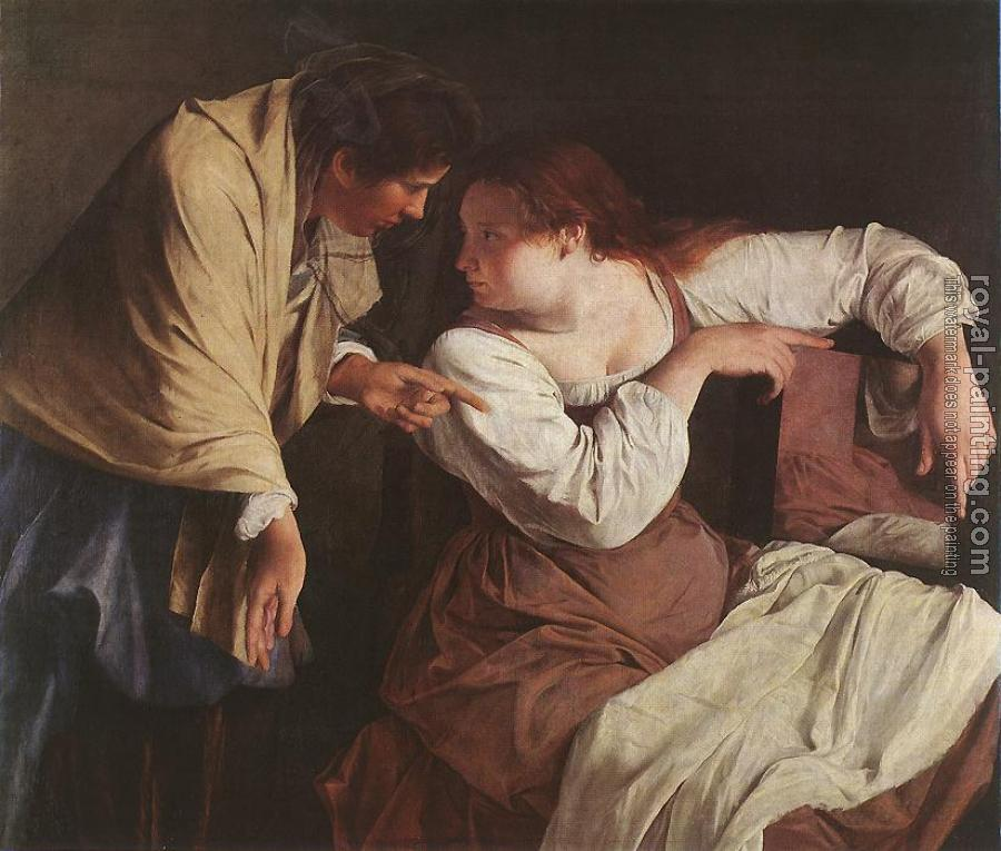 Orazio Gentileschi : Two Women with a Mirror